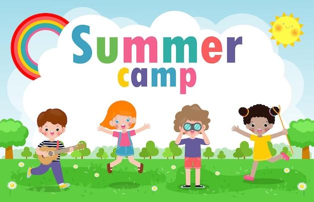 Kinderen zomerkamp achtergrondonderwijs
