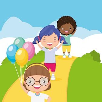 Kinderen zone achtergrond