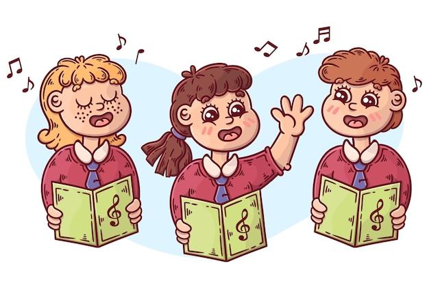 Kinderkoor illustratie