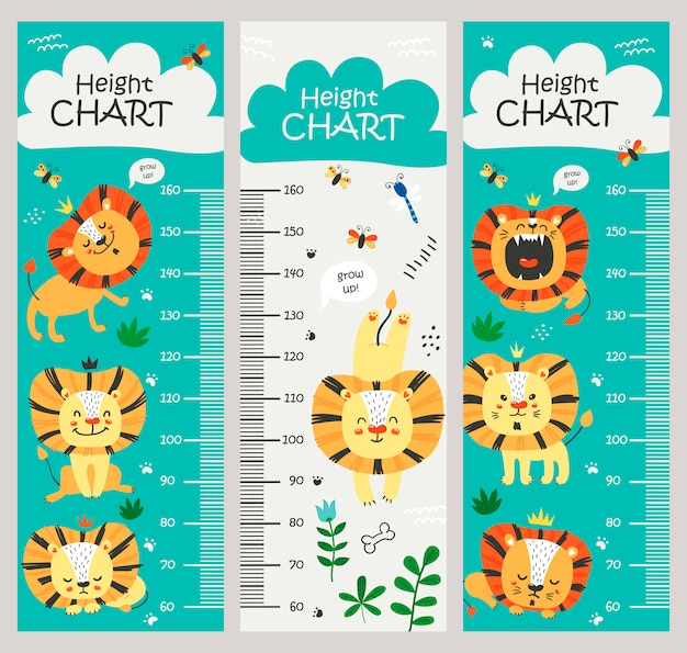 Kindermaatkaart met leeuwen