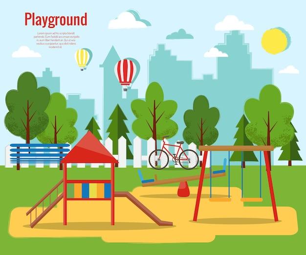Kinderspeelplaats flat