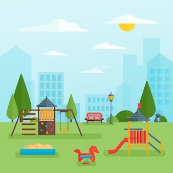 Kinderspeelplaats in het park