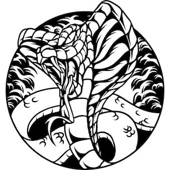 King cobra slang silhouet illustratie