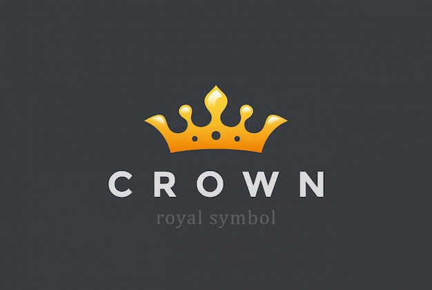 King crown logo icoon.