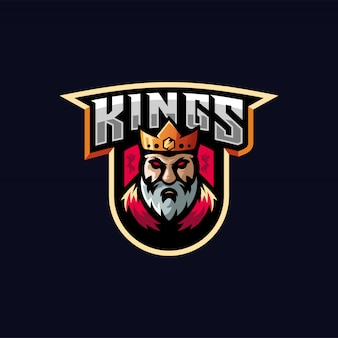 King e-sport logo-ontwerp