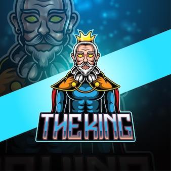 King esport mascotte logo ontwerp