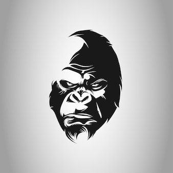 King kong head vector