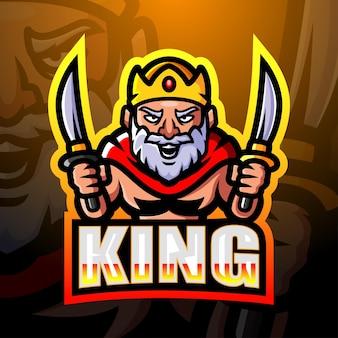 King mascotte esport illustratie