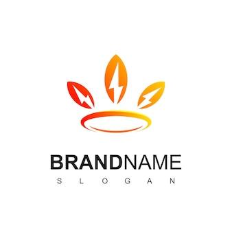 King of bolt energie logo ontwerp inspiratie