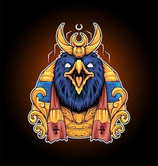King of ra illustratie premium vector, perfect voor t-shirt