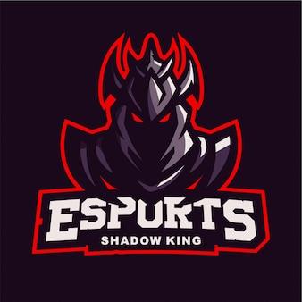 King schaduw mascotte gaming logo