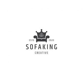 King sofa logo concept