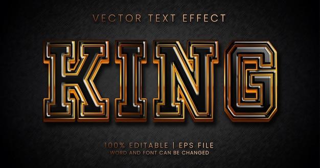 King-tekst, bewerkbare teksteffectstijl