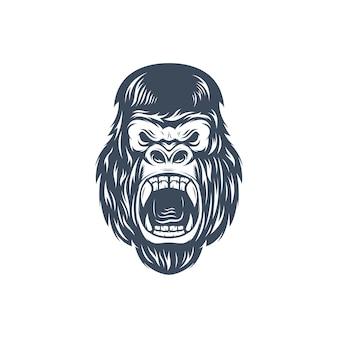 Kingkong gezicht logo