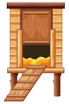Kippenhok van hout