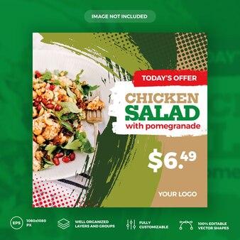 Kippensalade sociale media sjabloon voor spandoek