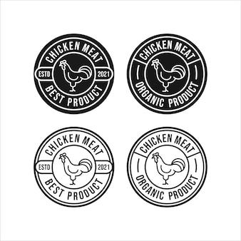 Kippenvlees ontwerp logo collectie