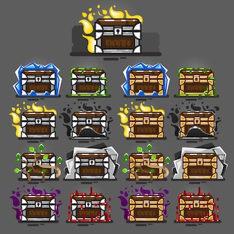 Kisten gesloten met magie voor videogames
