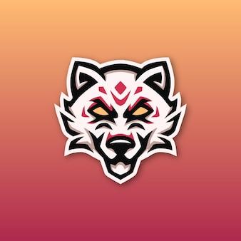 Kitsune mascot esport logo ontwerp