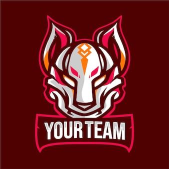 Kitsune mask e-sport logo