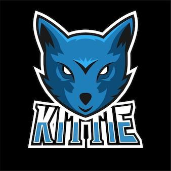 Kittie sport en esport gaming mascotte logo