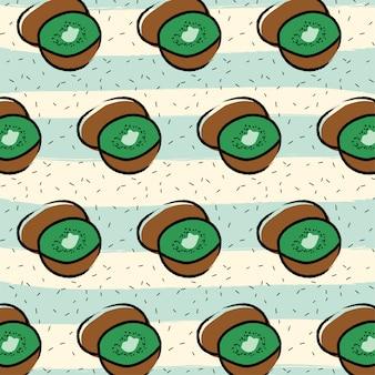 Kiwi fruit patroon achtergrond