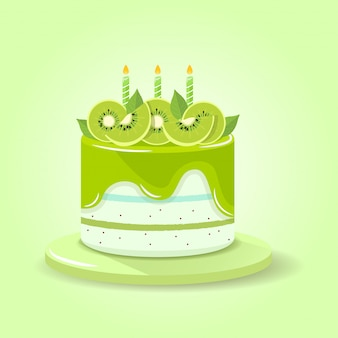Kiwi green cake