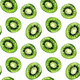Kiwi naadloze aquarel patroon