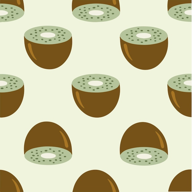 Kiwi patroon achtergrond social media post fruit vector illustratie