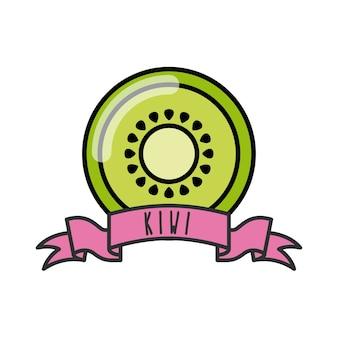 Kiwi-pictogram. biologisch voedselontwerp. vector afbeelding