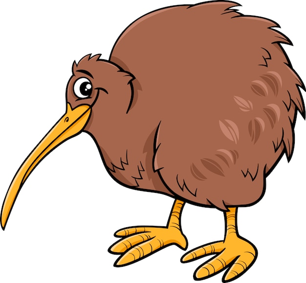 Kiwi vogel cartoon illustartion