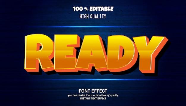 Klaar teksteffect