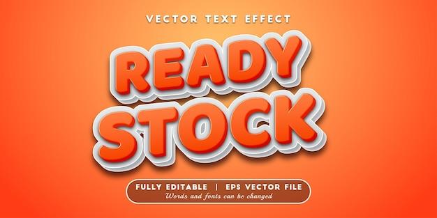 Klaar voorraad teksteffect, bewerkbare tekststijl