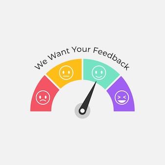 Klant feedback meter symbool illustratie