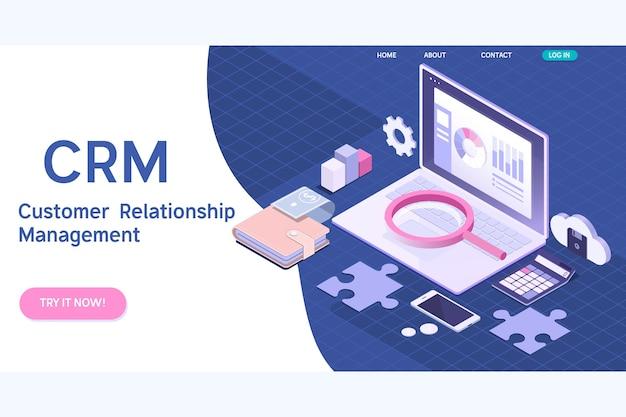 Klant relatie management concept