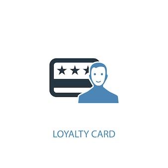 Klantenkaart concept 2 gekleurd pictogram. eenvoudige blauwe elementenillustratie. loyaliteitskaart concept symbool ontwerp. kan worden gebruikt voor web- en mobiele ui/ux