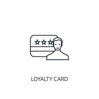 Klantenkaart concept lijn pictogram. eenvoudige elementenillustratie. loyaliteitskaart concept schets symbool ontwerp. kan worden gebruikt voor web- en mobiele ui/ux