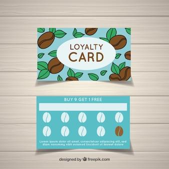 Klantenkaart met cofffee