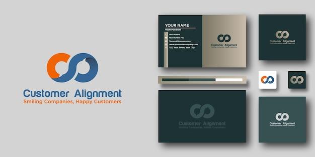 Klantenuitlijning logo sjabloon met modern concept