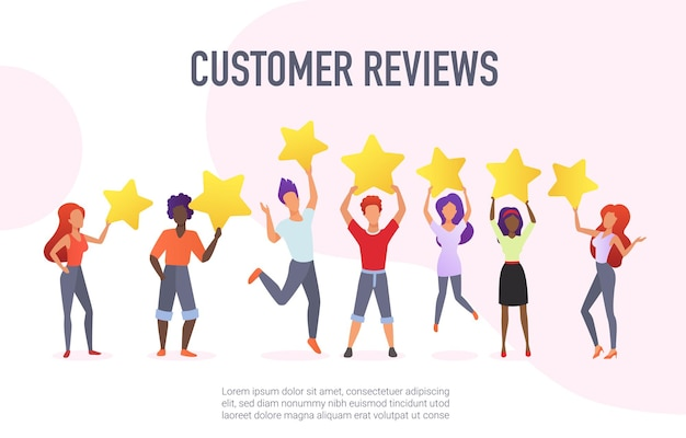 Klantrecensies die het concept van positieve feedback van prestatiediensten evalueren