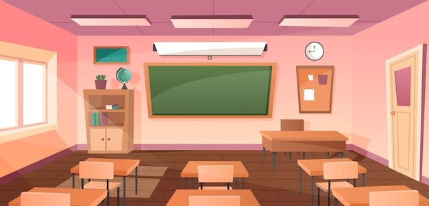 Klas interieur voor studie