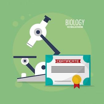Klasse biologie microscoop certificaat
