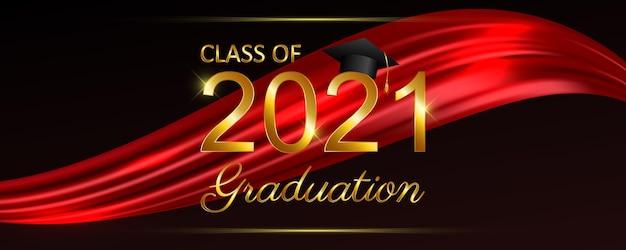 Klasse van 2021 afstuderen tekst voor banner