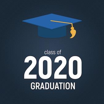 Klasse van graduarion education background. illustratie