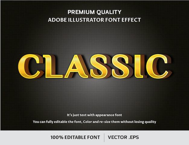 Klassiek 3d bewerkbaar lettertype-effect