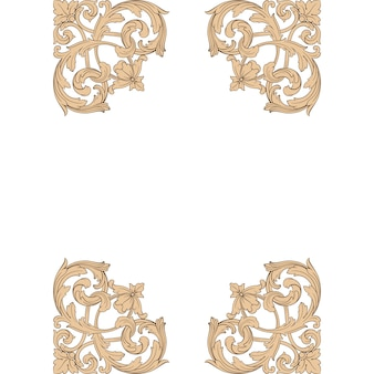 Klassiek barok ornament. decoratief ontwerpelement filigraan.