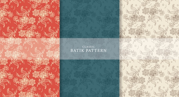 Klassiek batikpatroon