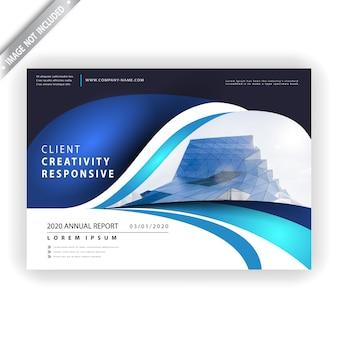 Klassiek bedrijfssjabloon folder
