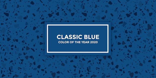 Klassiek blauw ontwerp met naadloos terrazzopatroon