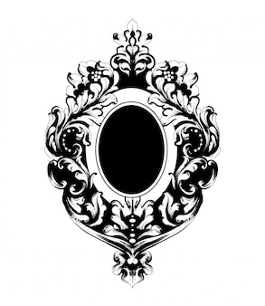 Klassiek gesierd frame